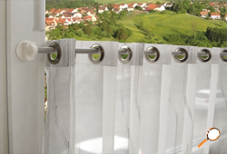 döfix curtain rod with magnetic brackets